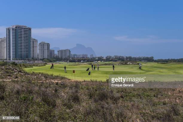A course scenic of the first hole during the third round of the PGA TOUR Latinoamerica 64 Aberto do Brasil at the Olympic Golf Course on October 14...