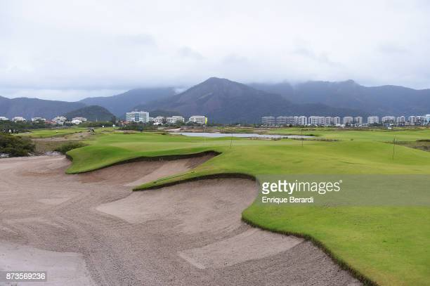 A course scenic of the fourth hole during the final round of the PGA TOUR Latinoamerica 64 Aberto do Brasil at the Olympic Golf Course on October 15...
