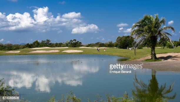A course scenic of the second hole during the third round of the PGA TOUR Latinoamérica Honduras Open presented by Indura Golf Resort at Indura Golf...