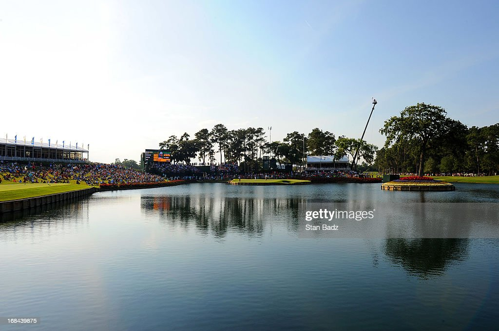 A course scenic shot of the 17th hole during the first round of THE PLAYERS Championship on THE PLAYERS Stadium Course at TPC Sawgrass on May 9, 2013 in Ponte Vedra Beach, Florida.