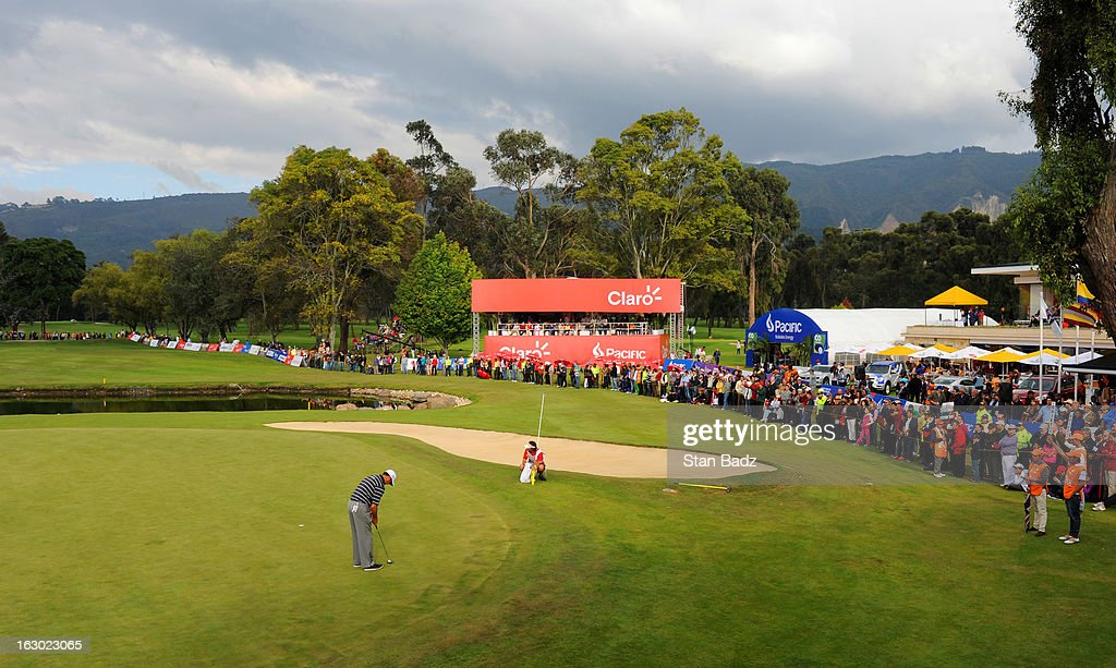 A course scenic shot of the 18th green during the final round of the Colombia Championship at Country Club de Bogota on March 3, 2013 in Bogota, Colombia.