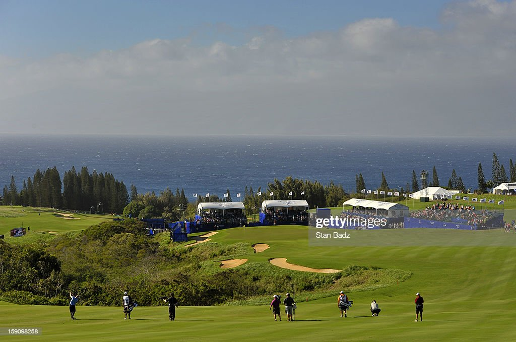 A course scenic shot of the 18th green during the second round of the Hyundai Tournament of Champions at Plantation Course at Kapalua on January 7, 2013 in Kapalua, Maui, Hawaii.
