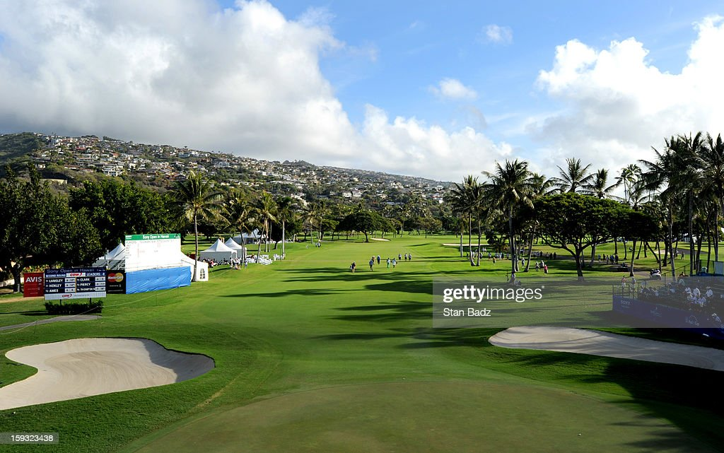 A course scenic shot of the 18th green during the second round of the Sony Open in Hawaii at Waialae Country Club on January 11, 2013 in Honolulu, Hawaii.