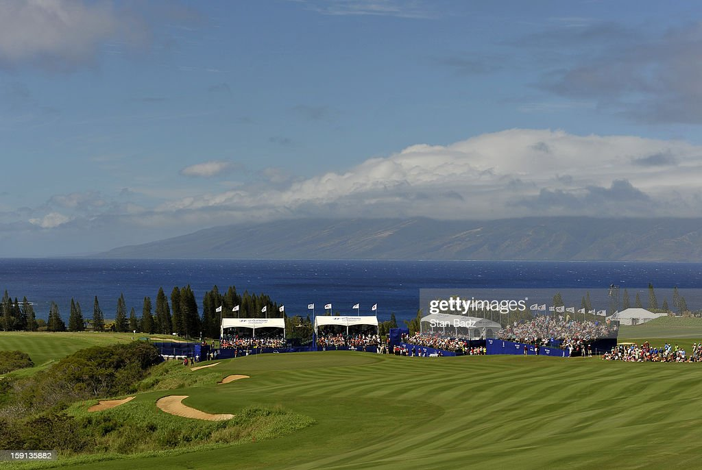 A course scenic shot of the 18th hole during the final round of the Hyundai Tournament of Champions at Plantation Course at Kapalua on January 8, 2013 in Kapalua, Maui, Hawaii.