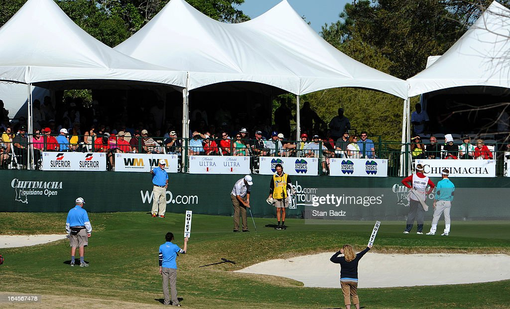 A course scenic shot of the 18th hole during the final round of the Chitimacha Louisiana Open at Le Triomphe Country Club on March 24, 2013 in Broussard, Louisiana.