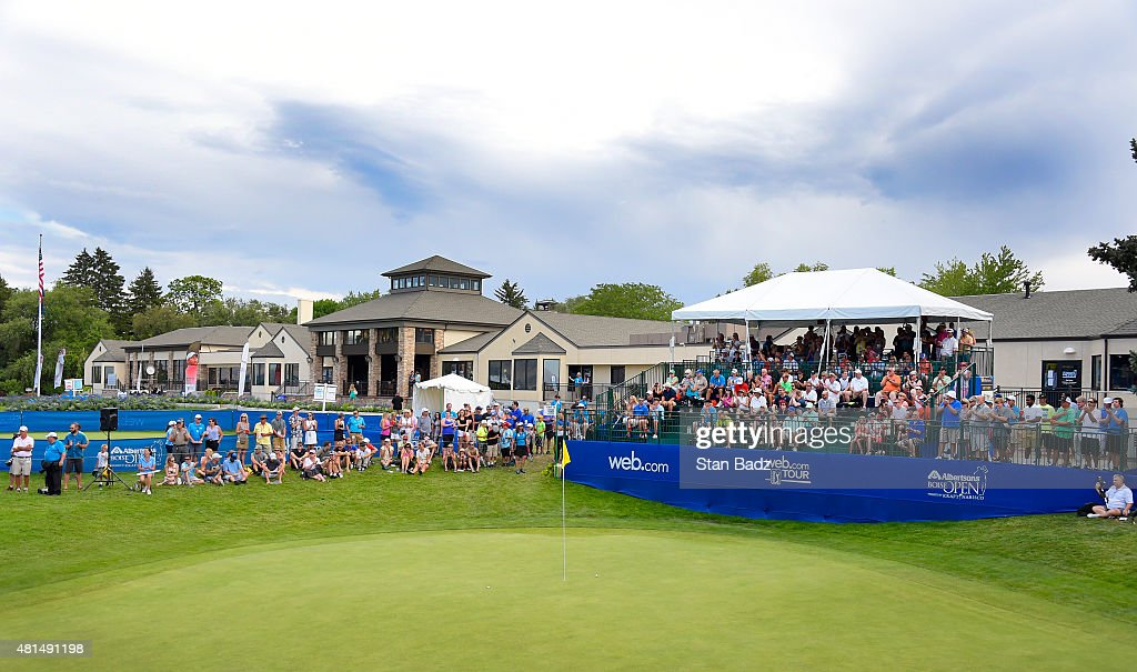 A course scenic shot of the 18th hole during the final round of the Web.com Tour Albertsons Boise Open presented by Kraft Nabisco at Hillcrest Country Club on July 12, 2015 in Boise, Idaho.