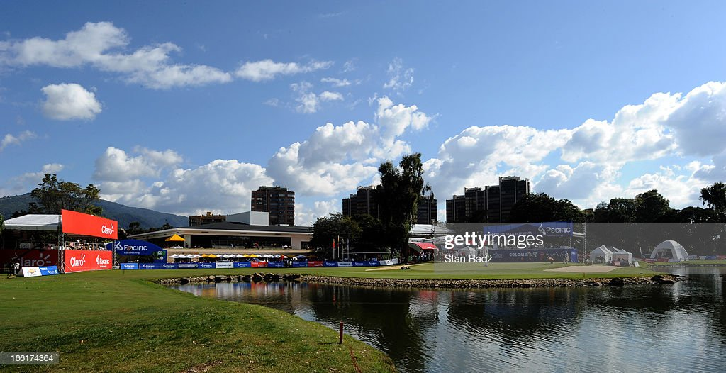 A course scenic shot of the 18th hole during the third round of the Colombia Championship at Country Club de Bogota on March 2, 2013 in Bogota, Colombia.