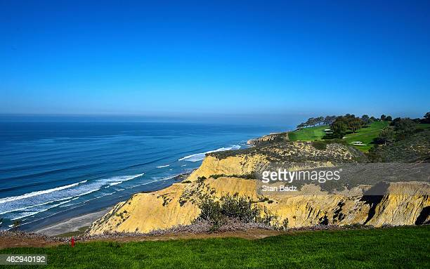 A course scenic shot of the shoreline on north course during the third round of the Farmers Insurance Open at Torrey Pines Golf Course on February 7...