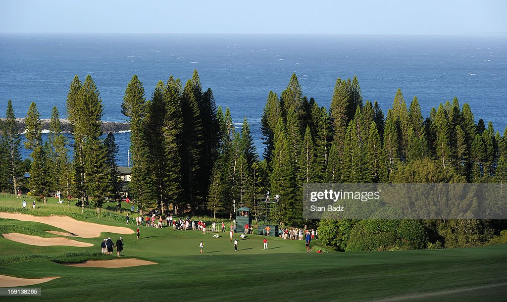 A course scenic shot on the first hole during the final round of the Hyundai Tournament of Champions at Plantation Course at Kapalua on January 8, 2013 in Kapalua, Maui, Hawaii.