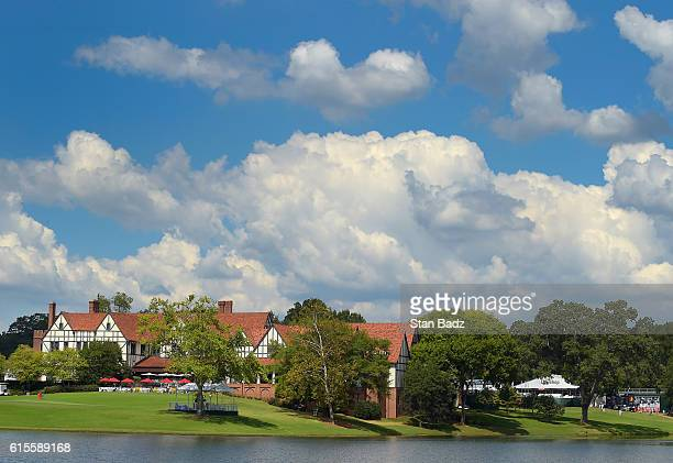 A course scenic view of East Lake clubhouse during the third round of the TOUR Championship the final event of the FedExCup Playoffs at East Lake...
