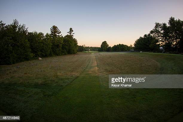 A course scenic view of the 10th hole tee box during the final round of the Deutsche Bank Championship at TPC Boston on September 7 2015 in Norton...