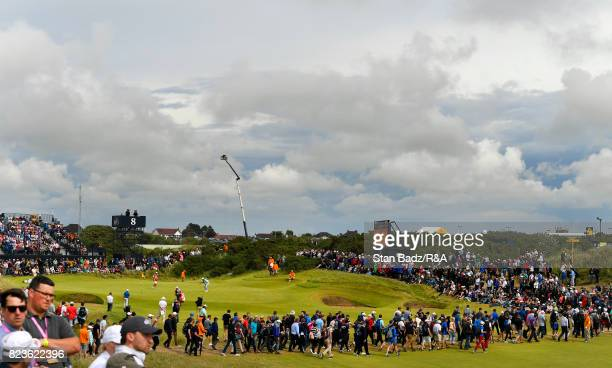 A course scenic view of the eighth hole during the final round of the 146th Open Championship at Royal Birkdale on July 23 2017 in Southport England