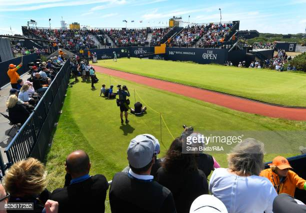 A course scenic view of the first hole during the final round of the 146th Open Championship at Royal Birkdale on July 23 2017 in Southport England