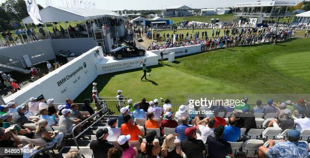 A course scenic view of the first hole during the final round of the BMW Championship at Conway Farms Golf Club on September 17 2017 in Lake Forest...