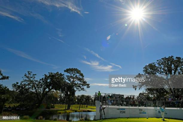 A course scenic view of the first hole during the final round of The RSM Classic at the Sea Island Resort Seaside Course on November 19 2017 in Sea...
