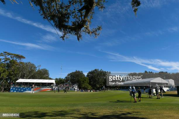 A course scenic view of the ninth hole during the final round of The RSM Classic at the Sea Island Resort Seaside Course on November 19 2017 in Sea...