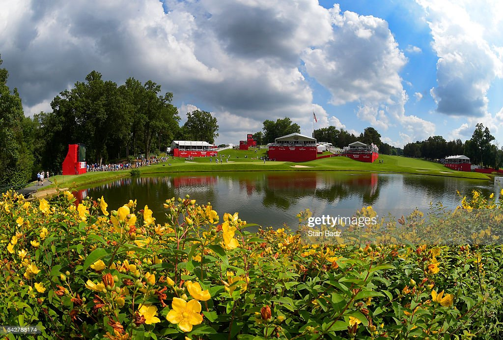A course scenic view of the tenth hole during the second round of the Quicken Loans National at Congressional Country Club (Blue) on June 24, 2016 in Bethesda, Maryland.