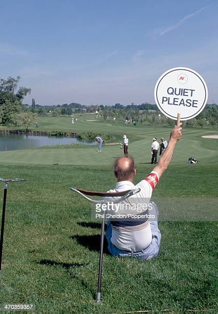 quiet please golf sign stock photos and pictures