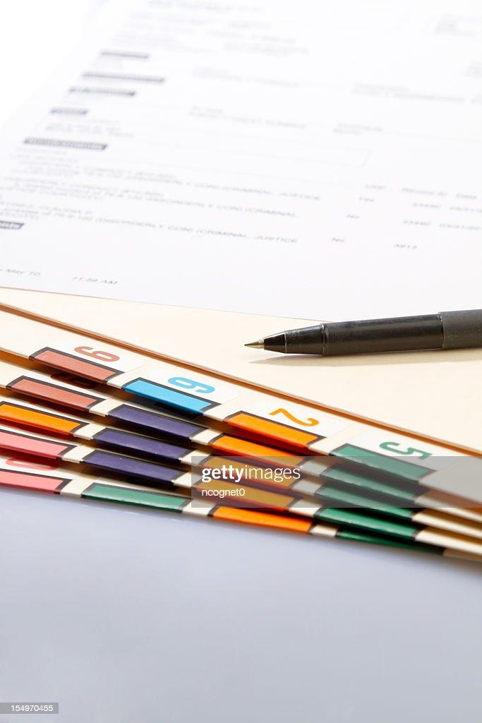 Court Document : Stock Photo