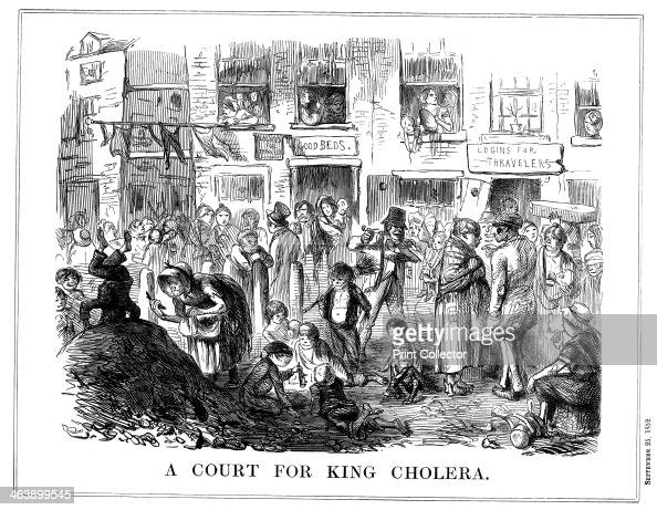 'A Court for King Cholera' 1852 A scene typical of the crowded unsanitary conditions in London slums Cholera first appeared in Britain in 1831 and...
