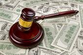 Court Gavel With Money