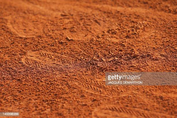 A court is displayed during the French Open tennis tournament at the Roland Garros stadium on May 28 2012 in Paris AFP PHOTO / JACQUES DEMARTHON