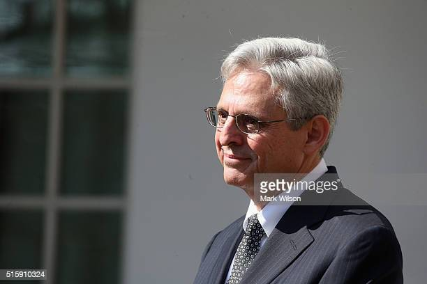 S Court of Appeals for the District of Columbia Circuit Chief Judge Merrick B Garland is introduced by US President Barack Obama as the nominee for...
