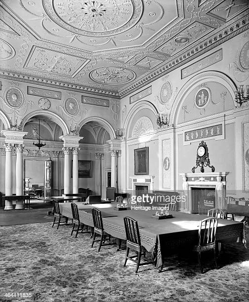 Court Room in the Bank of England City of London dating from the period of Sir Robert Taylor's additions in 17678 The ceiling and wall ornamentation...