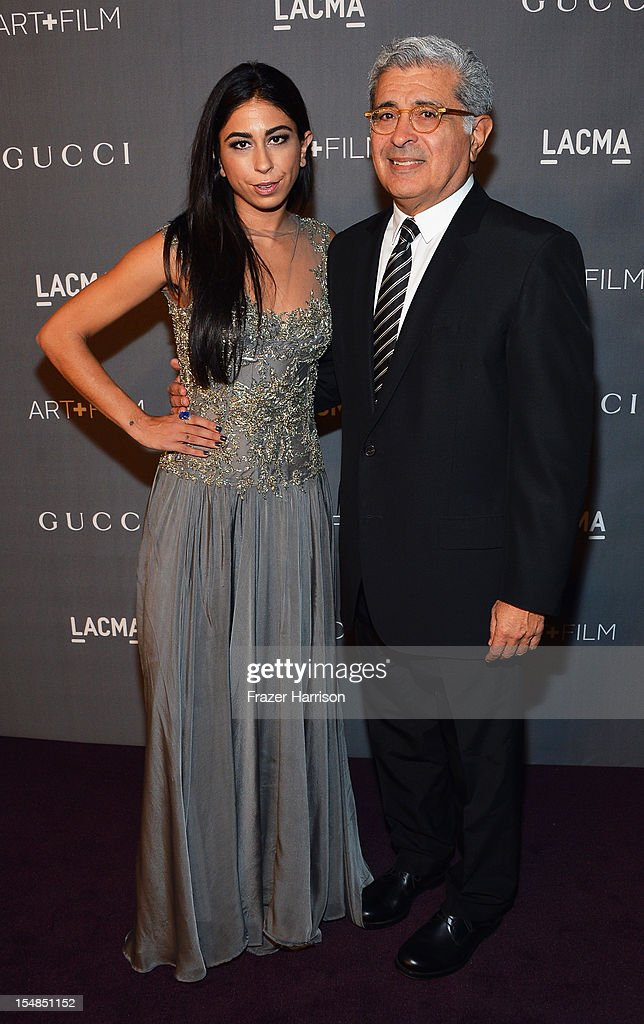 Courtenay Semel and Former Yahoo CEO Terry Semel arrive at LACMA 2012 Art + Film Gala Honoring Ed Ruscha and Stanley Kubrick presented by Gucci at LACMA on October 27, 2012 in Los Angeles, California.