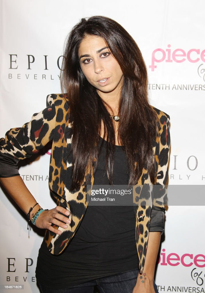 Courtenay Semel arrives at 'Pieces(Of Ass)' opening night Los Angeles performance held at The Fonda Theatre on March 28, 2013 in Los Angeles, California.