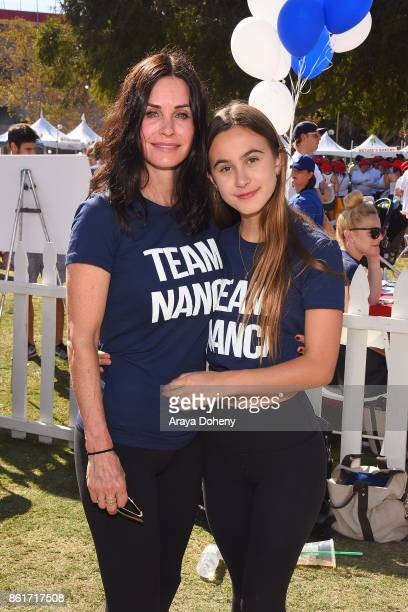 Courteney Cox and Coco Arquette attend the 15th Annual LA County Walk To Defeat ALS with Nanci Ryder 'Team Nanci' at Exposition Park on October 15...