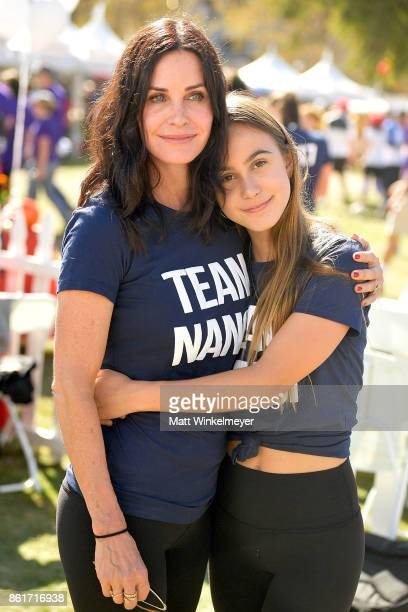 Courteney Cox and Coco Arquette attend the Nanci Ryder's 'Team Nanci' participates in the 15th Annual LA County Walk to Defeat ALS at Exposition Park...