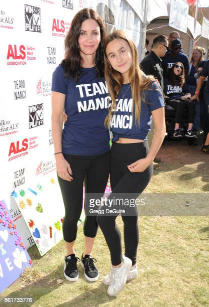 Courteney Cox and daughter Coco Arquette attend Nanci Ryder's 'Team Nanci' 15th Annual LA County Walk To Defeat ALS at Exposition Park on October 15...