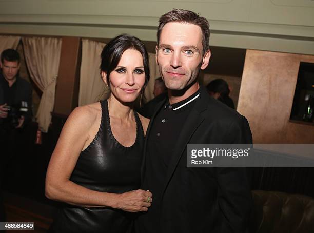 Courteney Cox and Johnny McDaid attends the 'Just Before I Go' Premiere after party during the 2014 Tribeca Film Festival sponsored by Bombay...