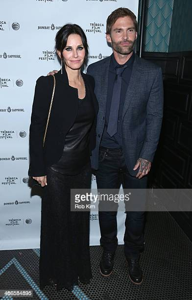 Courteney Cox and Seann William Scott attend the 'Just Before I Go' Premiere after party during the 2014 Tribeca Film Festival sponsored by Bombay...