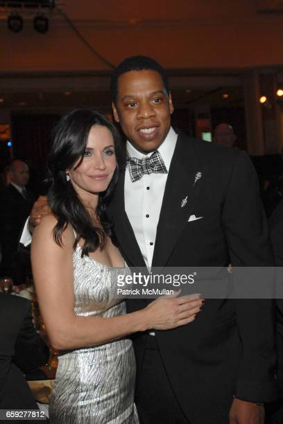 Courteney Cox Arquette and Jay Z attend Unforgettable Evening Benefiting The Entertainment Industry Foundation at Beverly Wilshire Hotel on February...