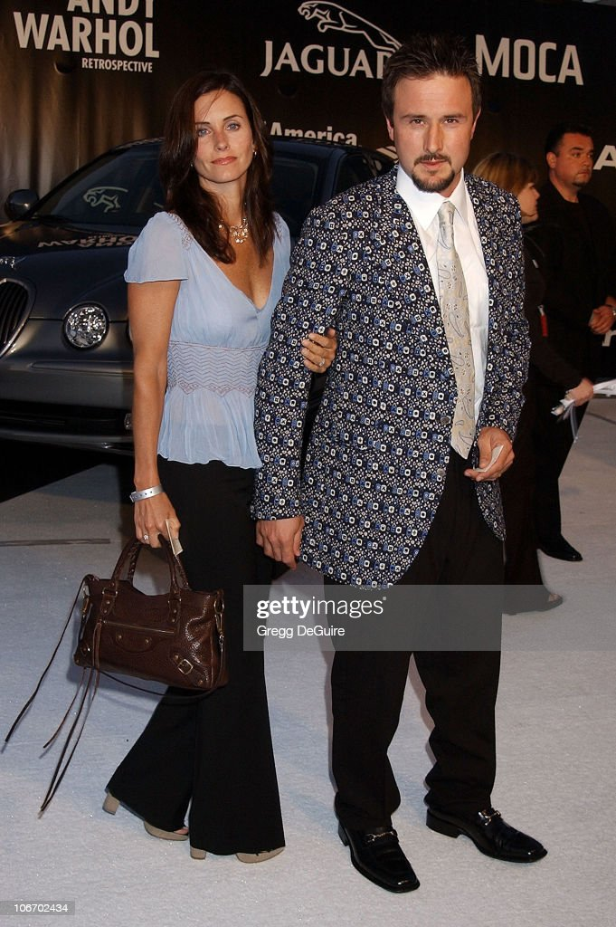 <a gi-track='captionPersonalityLinkClicked' href=/galleries/search?phrase=Courteney+Cox&family=editorial&specificpeople=203101 ng-click='$event.stopPropagation()'>Courteney Cox</a> Arquette & <a gi-track='captionPersonalityLinkClicked' href=/galleries/search?phrase=David+Arquette&family=editorial&specificpeople=201740 ng-click='$event.stopPropagation()'>David Arquette</a> during Angeleno Magazine & Jaguar Sponsor VIP Gala Honoring Dennis Hopper and Opening the Andy Warhol Retrospective at MOCA at The Museum of Contemporary Art in Los Angeles, California, United States.