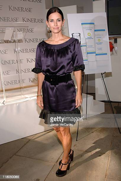Courteney Cox Arquette during Olympus Fashion Week Spring 2007 Kinerase Press Conference with Courteney Cox Arquette at Lobby of the Tents at Bryant...