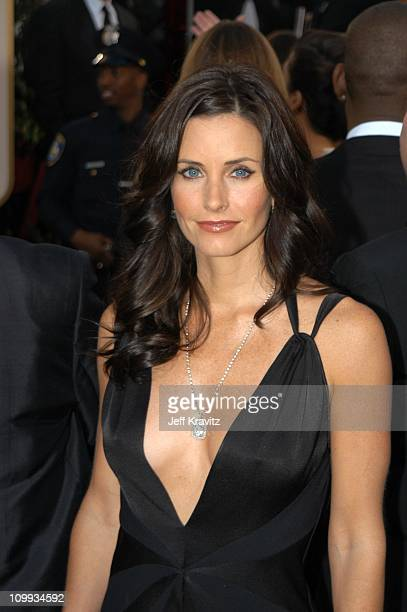 Courteney Cox Arquette during The 60th Annual Golden Globe Awards Arrivals at Beverly Hilton Hotel in Beverly Hills CA United States