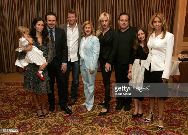 Courteney Cox Arquette holding daughter Coco Riley Arquette husband David Arquette Thomas Jane wife Patricia Arquette Alexis Arquette Richmond...