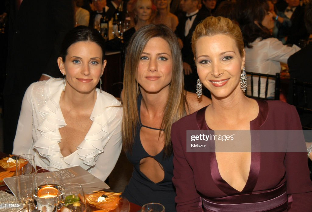 Courteney Cox Arquette, Jennifer Aniston and Lisa Kudrow at the The Shrine Auditorium in Los Angeles, California