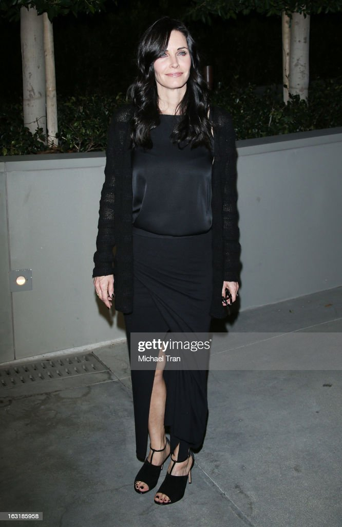 Courteney Cox arrives at the 2nd annual an Evening of Environmental Excellence Gala held at a private residence on March 5, 2013 in Beverly Hills, California.