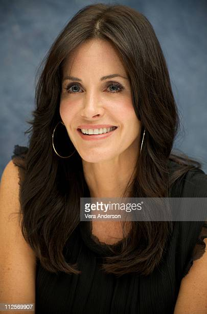 Courteney Cox at the 'Cougar Town' press conference at the Four Seasons Hotel on October 7 2009 in Beverly Hills California