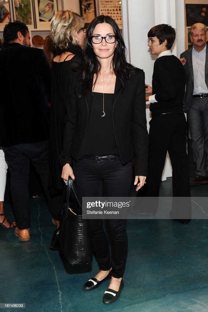 Courteney Cox attends Director's Circle Celebrates Wear LACMA, Sponsored By NET-A-PORTER And W at LACMA on April 24, 2013 in Los Angeles, California.
