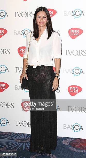 Courteney Cox attends the Ivor Novello Awards 2016 at The Grosvenor House Hotel on May 19 2016 in London England
