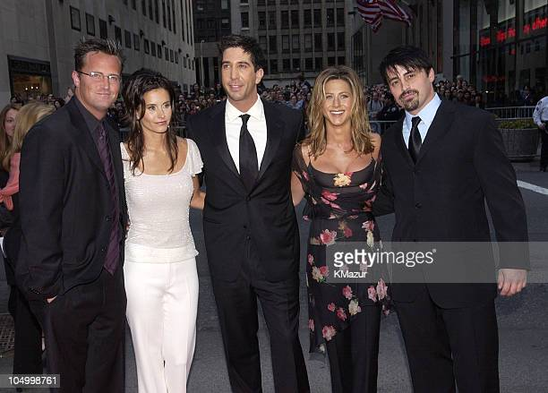 Courteney Cox David Schwimmer Jennifer Aniston Matthew Perry and Matt LeBlanc from NBC show 'Friends'