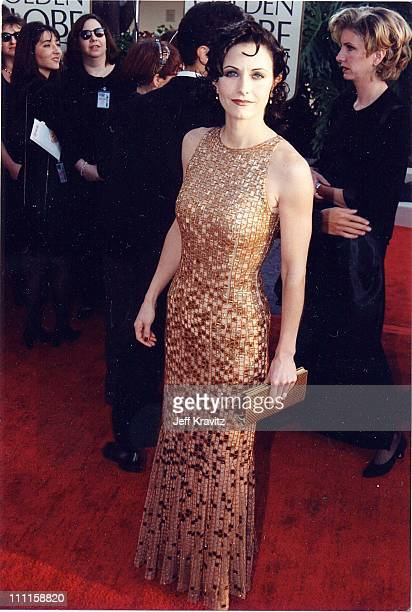 Courteney Cox during 1997 Golden Globe Awards in Los Angeles California United States