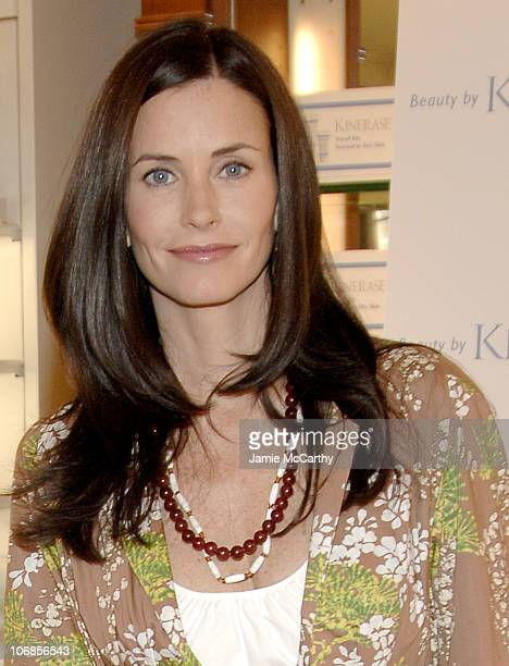 Courteney Cox during Courteney Cox and Valeant Unveil New Ad Campain for Luxury Skin Care Line Kinerase at Sephora at Sephora in New York City New...