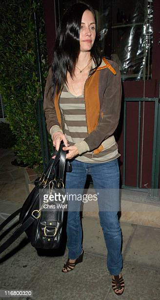 Courteney Cox during Courteney Cox Sighting at Il Sole March 14 2007 at Il Sole in West Hollywood California United States
