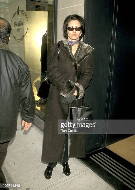 Courteney Cox during Courteney Cox Sighting in New York City December 5 1997 at Madison Avenue New York City in New York City New York United States